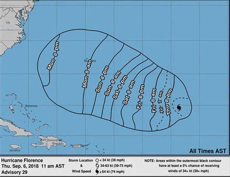 hurricane florence path observe  updates bermuda set