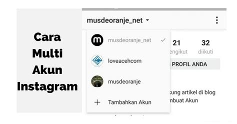 gambar cara membuat akun instagram cara mudah membuat multi akun di instagram ada gratis one
