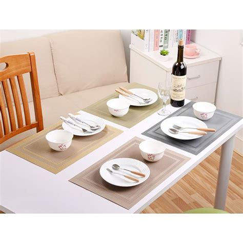 Dining Table Mat Set Pvc Kitchen Dining Placemat Table Decor Mat Drying