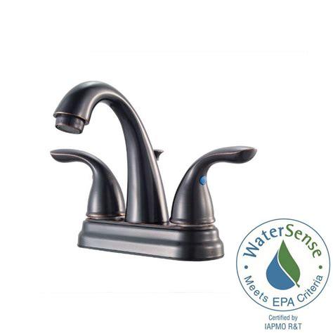 tuscany bathroom faucet pfister pfirst series 4 in centerset 2 handle bathroom faucet in tuscan bronze lg148