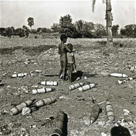 1971 pakistan civil war two displaced and poverty stricken children stand in an