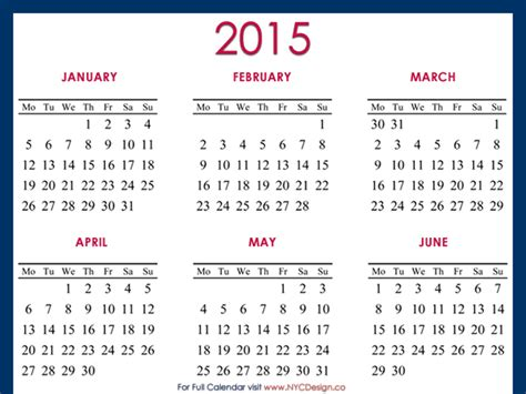 printable yearly a4 calendar 2015 2015 calendar printable a4 paper size blue red by