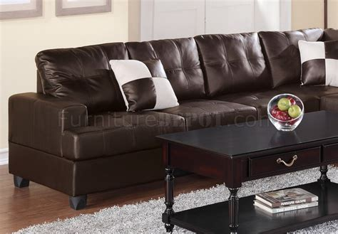 two piece sectional sofa in bonded leather espresso sofa f7629 sectional sofa by boss espresso bonded leather