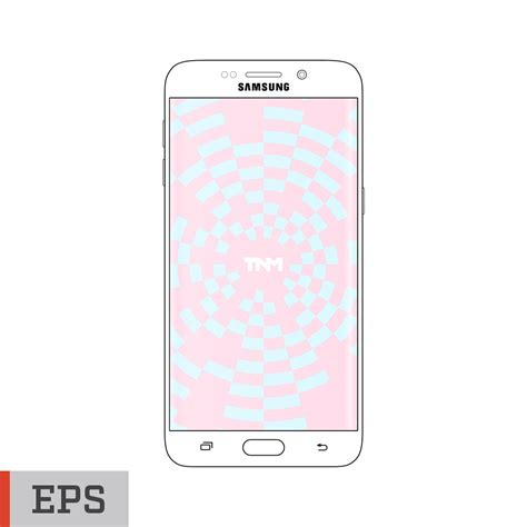 eps format android vector mockup eps template for samsung galaxy s6 edge