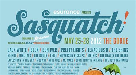 sasquatch 2012 lineup way