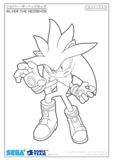 Silver The Hedgehog Coloring Pages Silver Channel Coloring Page By Fuzon S On Deviantart