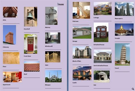 house types picture dictionary houses