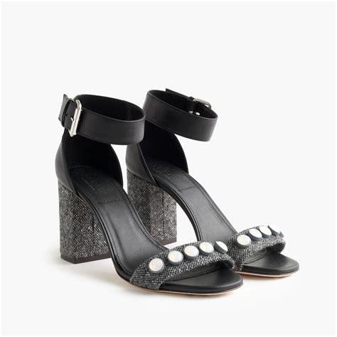 jeweled high heel sandals j crew collection jeweled strappy high heel sandals in