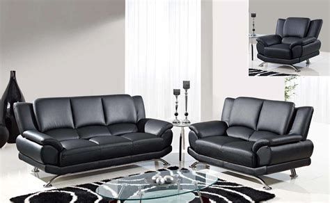 geneva black bonded leather casual living room set geneva 2pc black modern leather sofa set sofa and loveseat