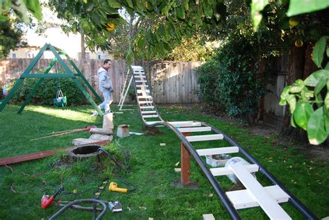 how to build a backyard roller coaster kid roller coaster in backyard outdoor furniture design