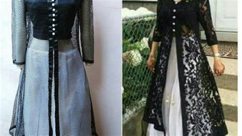 designer long dress  open front jacket front slit