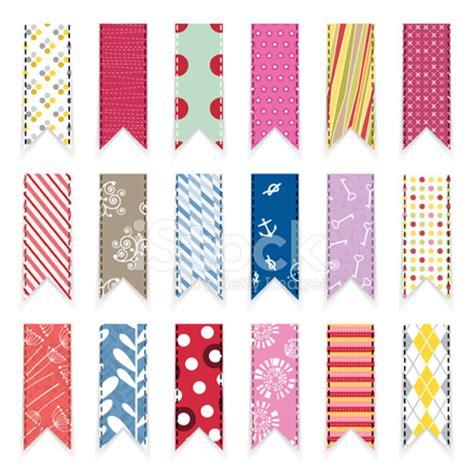vector cute scrapbooking ribbons design element stock