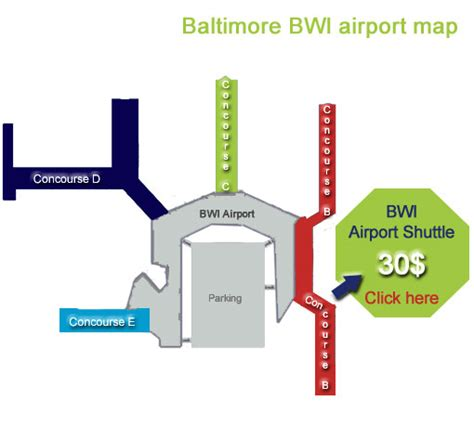 bwi airport map baltimore airport map bwi terminal services airlines