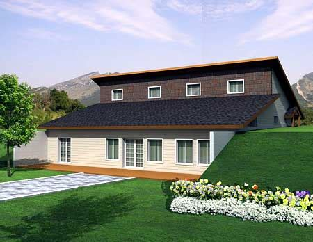 attractive berm house plan 35458gh architectural