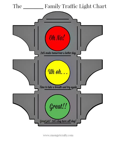 report a traffic light problem traffic light behavior chart free printable