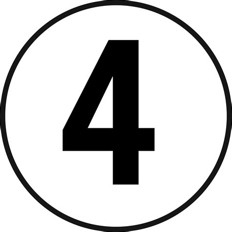 Number Four quot 4 fourth number four number 4 school racing