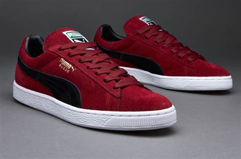 sepatu sneakers suede classic pomegranate black