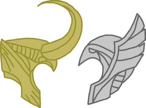 thor helmet template helmet thor and loki by flash on deviantart