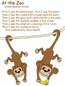 Poem at the zoo by william makepeace thackeray