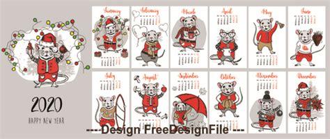 digital design happy  year vector