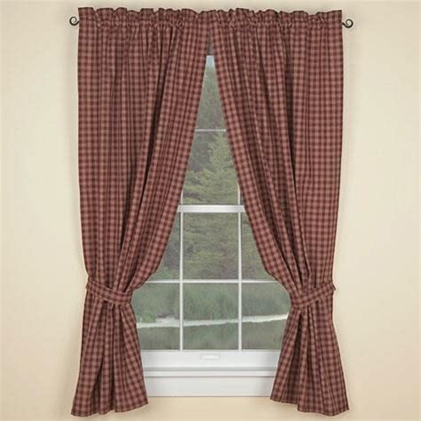 country curtains sturbridge sturbridge panels 72x63 wine unlined country village