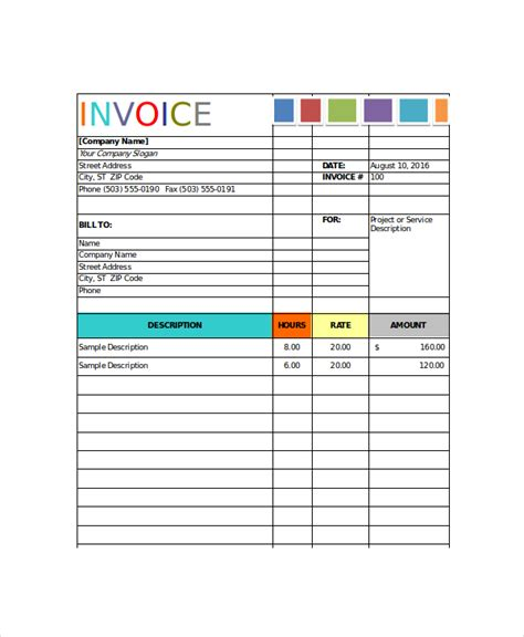 painters invoice template painting invoice template 7 free excel pdf documents