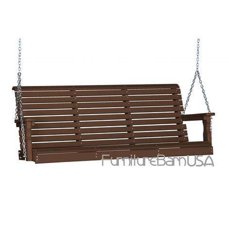 5 Foot Porch Swing poly 5 foot rollback outdoor porch swing furniturebarusa