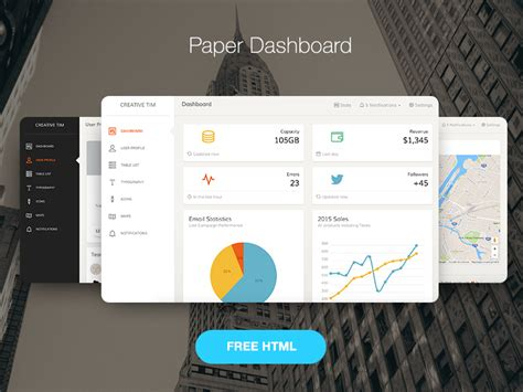 templates bootstrap paper top 25 free bootstrap admin dashboard templates of 2017