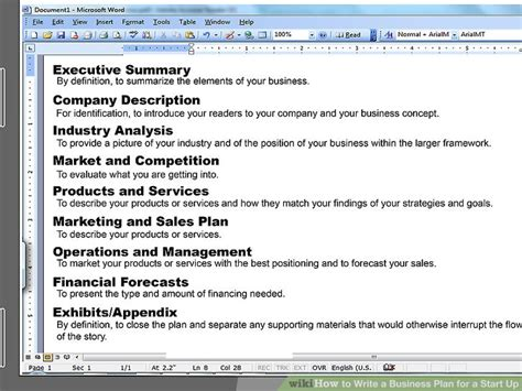 how to write financial plan in business how to write a business plan for a startup with pictures