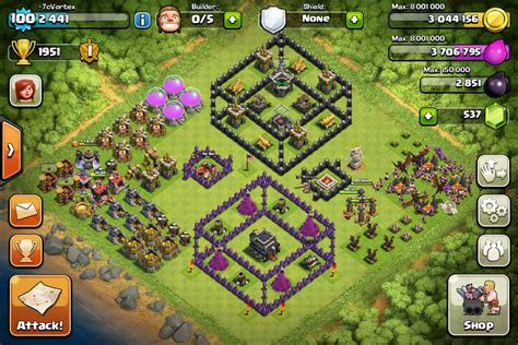 layout coc base clash of clans funny bases newhairstylesformen2014 com