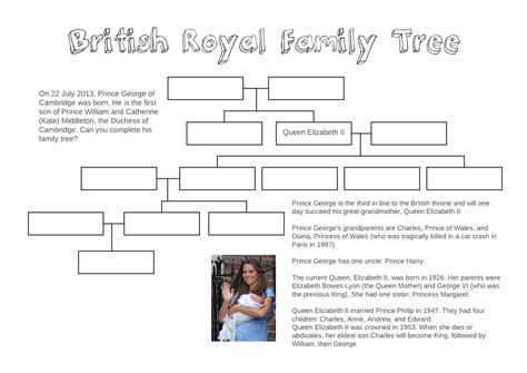 printable quiz about the royal family adventures in tefl british royal family tree free