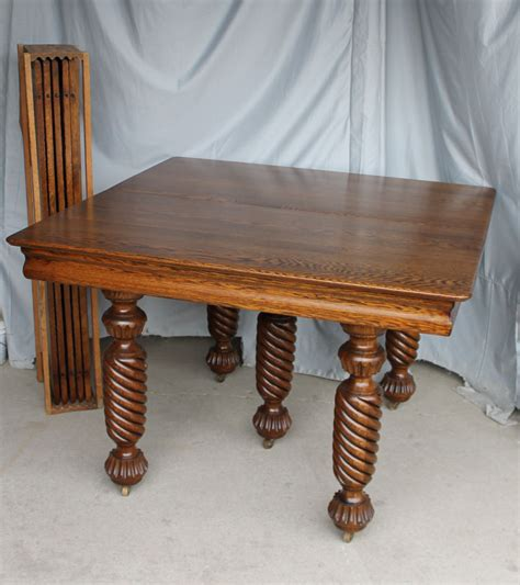 square dining table with leaves bargain s antiques 187 archive square oak dining