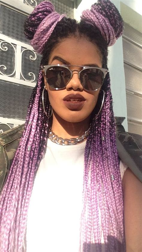 Pink And Black Hairstyles by Purple And Black Box Braids Hairstyles Haircuts For