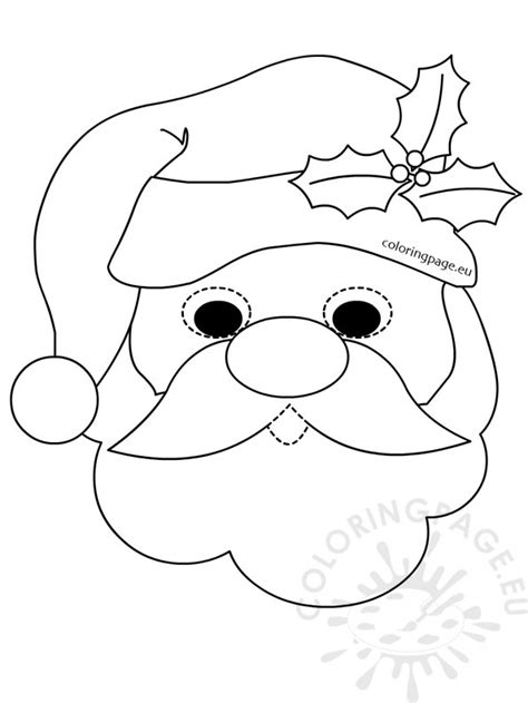 printable santa face free coloring pages