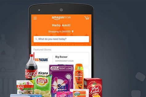 amazon now amazon launches amazon now app for grocery delivery in
