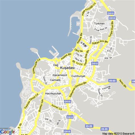 kusadasi city map map of kusadasi turkey hotels accommodation