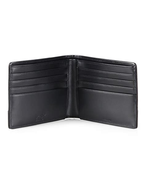 Antioch Wallet montblanc textured leather wallet in black for