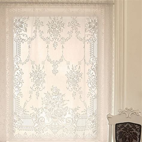 downton abbey curtains downton abbey 174 aristocrat window curtain panel in white