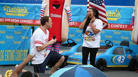 Joey Chestnut Does It Again by Joey Chestnut Wins Again At July 4th