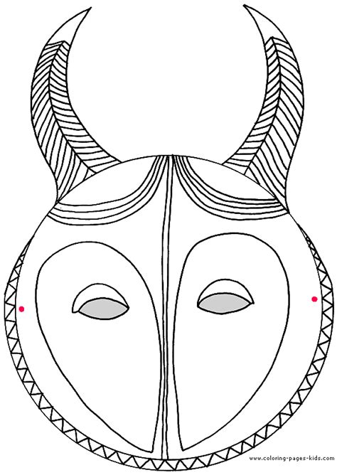 free coloring pages of carnival mask color page
