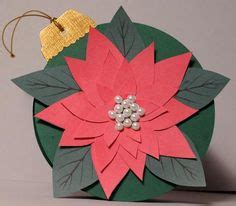 paper poinsettias made from recycled cards template on templates vintage