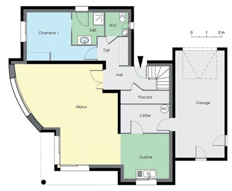 Plan Maison Contemporaine Gratuit 3077 by Plan Maison Plain Pied 3 Chambres 110m2