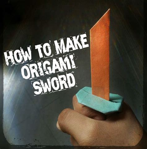 How To Make A Origami Sword Step By Step - how to make origami sword 13 steps