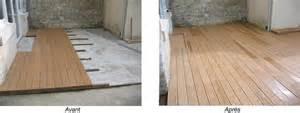 terrasse en bois composite sur dalle beton nos conseils