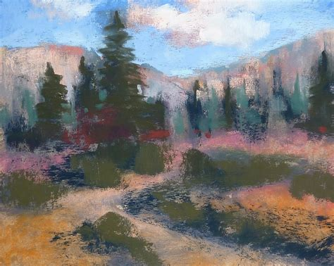 in pastels painting my world pastel demo colorado landscape with
