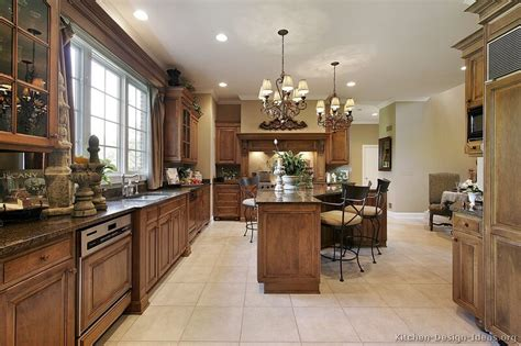 High End Kitchen Islands Pictures Of Kitchens Traditional Medium Wood Cabinets