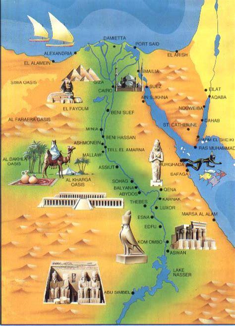 detailed tourist map  egypt egypt detailed tourist map