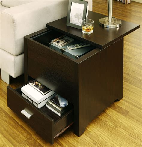modern end table with storage vosseli end table in storage trunk style modern coffee