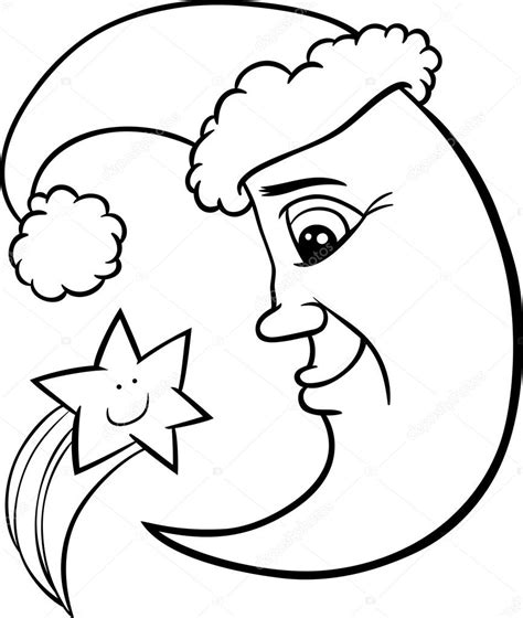 imagenes de santa claus en la luna la luna y la estrella de navidad para colorear p 225 gina