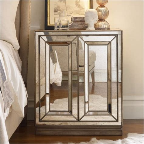 touch for bedroom mirrored nightstands a special touch for your master